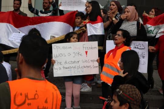 sicherheit irak plakate